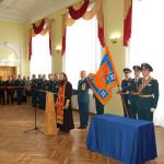 Освящение знамени Спецуправления ФПС МЧС России №18