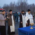 Освящение поклонного креста 27 декабря 2013 года